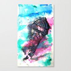 ice cream on the go Canvas Print