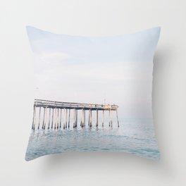 Ocean Pier Throw Pillow