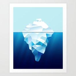 Ice Burg And Polar Bear Art Print