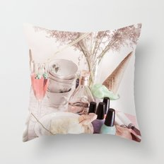 Ice Cream Tea Throw Pillow