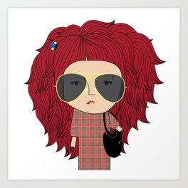 Mss Sunglasses Art Print