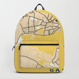Galway Yellow City Map Backpack