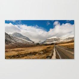 Mountain Highway Snowdonia Canvas Print