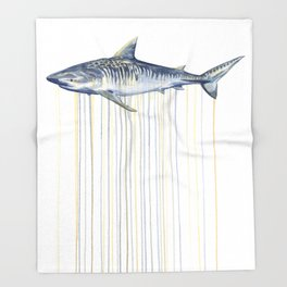 Tiger Shark Throw Blanket