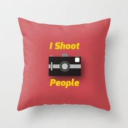 Photographer's Wordplay Throw Pillow