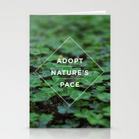 lee pace Stationery Cards featuring Adopt Nature's Pace by Ashley Herrin