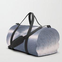 Silver Metallic Stainless Steel Pattern Duffle Bag