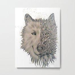 Wolves are pur magic Metal Print
