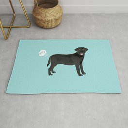 Black Lab funny fart dog breed gifts labrador retrievers Rug