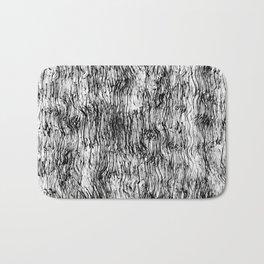 Black Pattern#4 Bath Mat