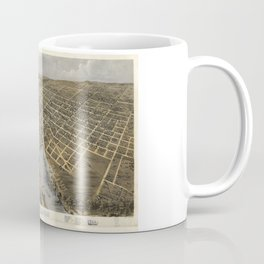 Aerial View of Grand Rapids, Michigan (1868) Coffee Mug