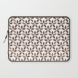 Copper Flower Pattern Laptop Sleeve