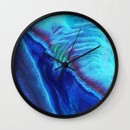 Water Ripple Blue Abstract Painting | Beautiful Bright Blue Art Wall Clock