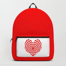 Monochrome Daze Red Heart Backpack