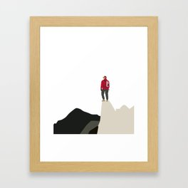 Reach For The Top! Mountain Climber - Never Give Up Framed Art Print