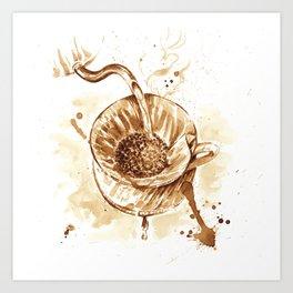 Pourover Coffee Art Print