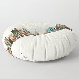 cincinnati ohio skyline Floor Pillow