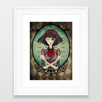 dragonfly Framed Art Prints featuring Dragonfly by Beñat Olea