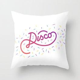 Disco   [color] Throw Pillow