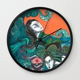 Breathing underwater Wall Clock