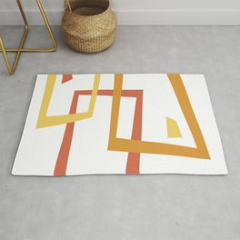 Geometric Square Abstract Pattern Rug