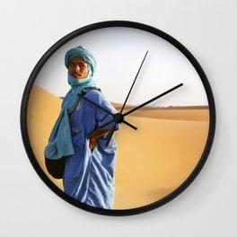 Blue Berber Morocco Wall Clock