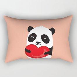 Panda love. Cute cartoon illustration Rectangular Pillow