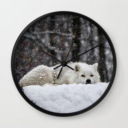 Dreams of warmer weather Wall Clock