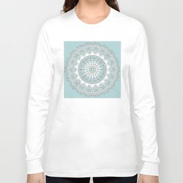 Mandala - Boho - Sacred Geometry - Pastels - Long Sleeve T-shirt