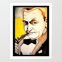 fitzgerald Art Prints featuring Barry Fitzgerald by Jessica Tobin