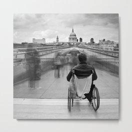 Invisible, Millennium Bridge, London Metal Print