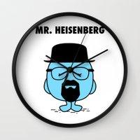 heisenberg Wall Clocks featuring Heisenberg by Krikoui