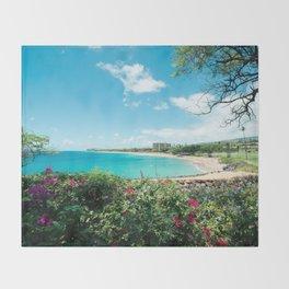 Kāʻanapali Beach Maui Hawaii Throw Blanket