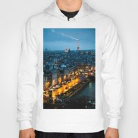 paris Hoodies featuring Paris by Luca Spanu