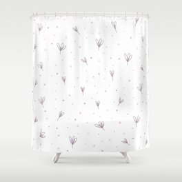 Flowers Pattern PNG Shower Curtain