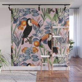 Tucan Garden #pattern #illustration Wall Mural