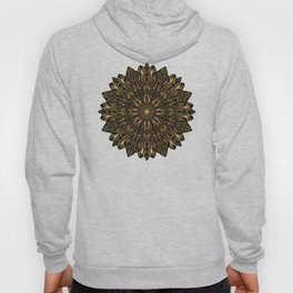 MANDALA IN BLACK AND GOLD Hoody