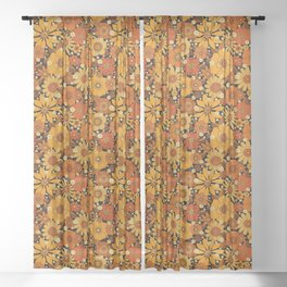 Come and get your love - orange Sheer Curtain