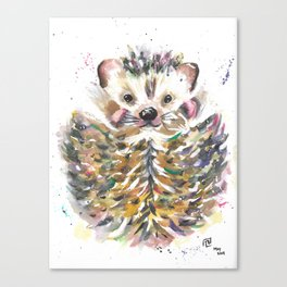 Waterolor Hedgehog Canvas Print