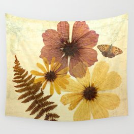 Dried Flowers Wall Tapestry