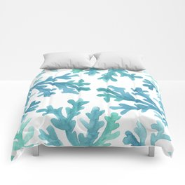 Blue Ombre Coral Comforters