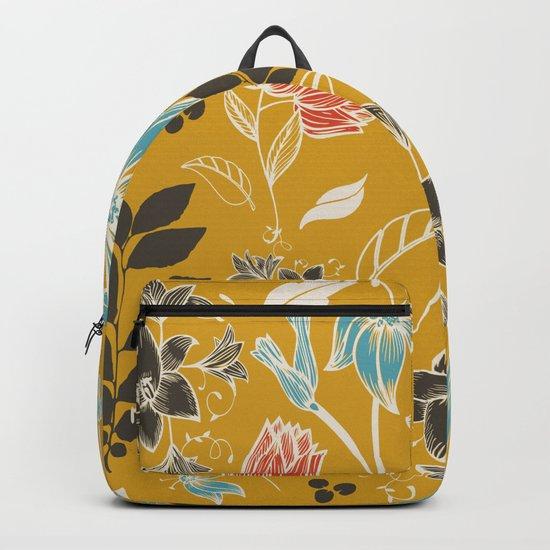 Spring flower mustard Backpack