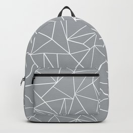 Abstraction Outline Grey Backpack