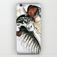 violin iPhone & iPod Skins featuring violin by NicolasGabrielArt