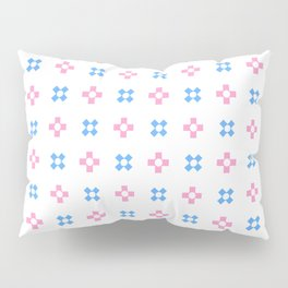 four lines 9 Blue and pink Pillow Sham