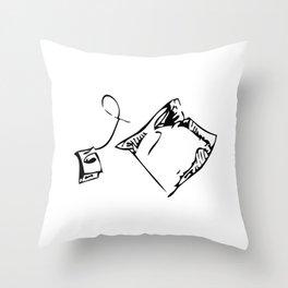 Teabag Throw Pillow