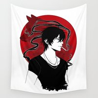 into the wild Wall Tapestries featuring WILD by Loweana