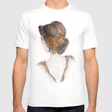 Hair Brooch // Fashion Illustration White MEDIUM Mens Fitted Tee