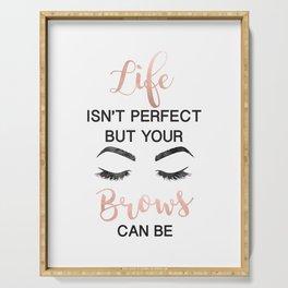Rose gold, make up, Makeup, Brows, Eyebrows, Vanity, make up print, make up quote,Eyeliner, Lashes, Serving Tray