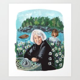 Tove Janssen Summer Book Art Print